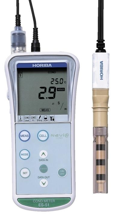Horiba B 173 Conductivity Meter : Horiba es portable conductivity resistivity salinity meter