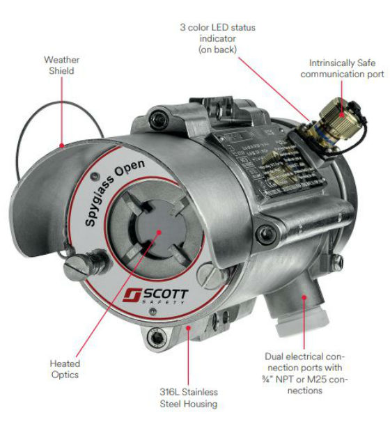 3M Scott Safety Spyglass Open Path Combustible Gas Detector